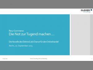 Clover Consulting GmbH_Die Not zur Tugend machen