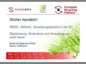 European Recycling Plattform_Sicher handeln
