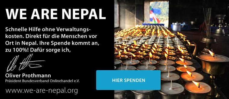 we are nepal spendenbanner